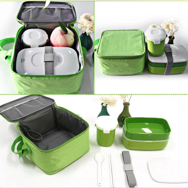 All-In-One Lunch Box Set w/Soup Mag & Thermal Insulated Case