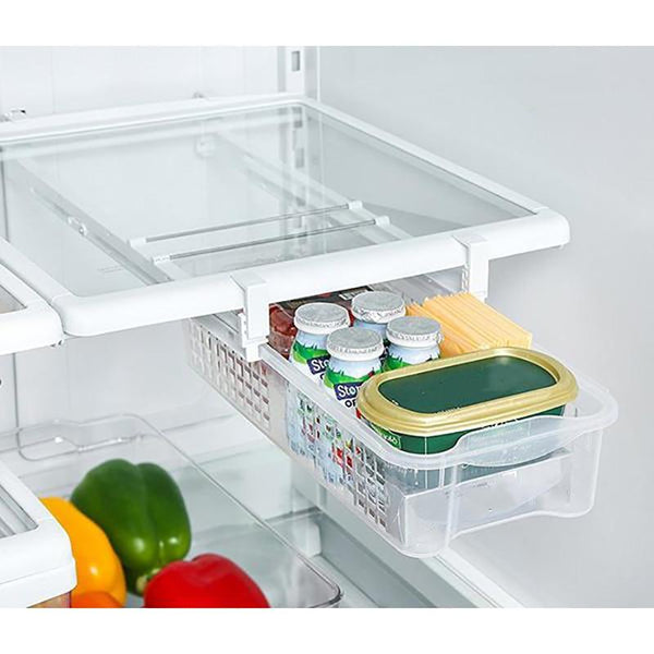 Space Saving Snap-On Fridge Drawer