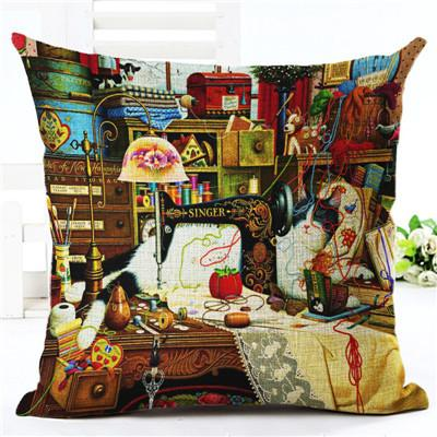 Cat Traveller Throw Pillow