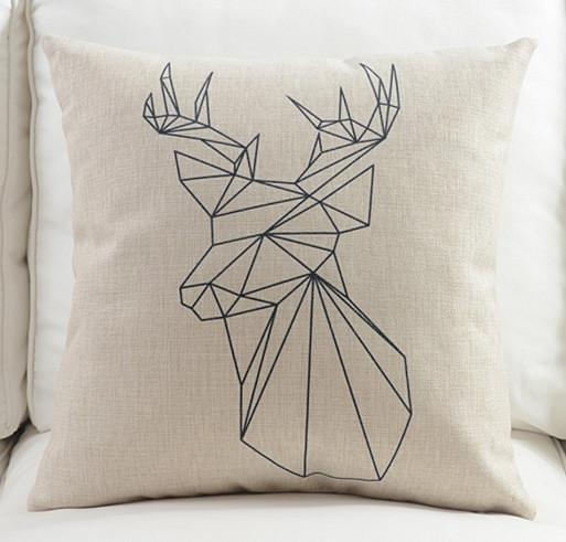 Nordic Style Geometric Throw Pillow