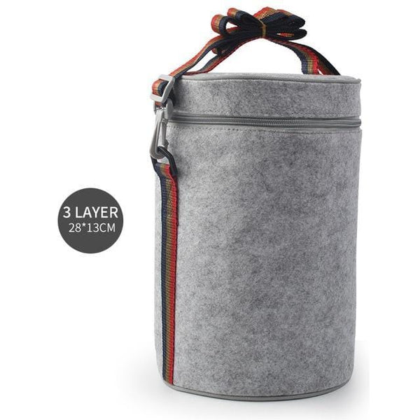 Thermal Lunch Bag For Multi-Compartment Lunch Box