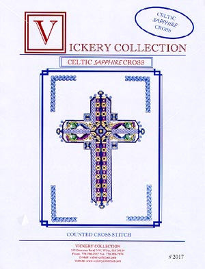 Celtic Sapphire Cross - Vickery Collection