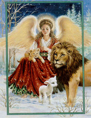 Angel Lion And Lamb - Heaven and Earth Designs