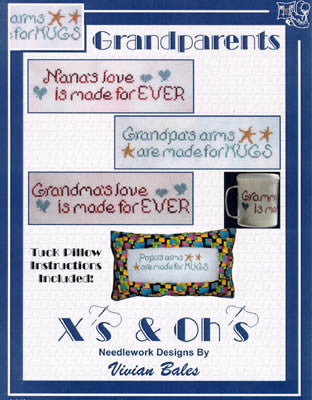 Grandparents Tuck Pillow - Xs and Ohs