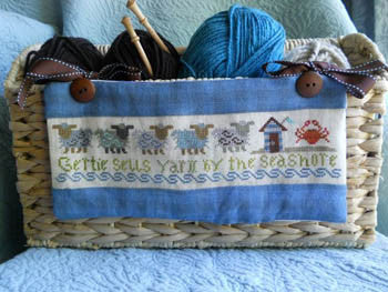 Gertie Sells Yarn by the Seashore - Sampler Girl