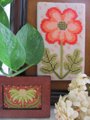 Funky Flower Sisters-Laura & Jennifer - By The Bay Needleart