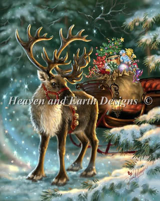 Enchanted Christmas Reindeer - Heaven and Earth Designs