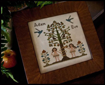Adam and Eve - Little House Needleworks