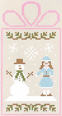 Winter Wonderland 4 - Frosty Couple - Skating Couple - Country Cottage Needleworks