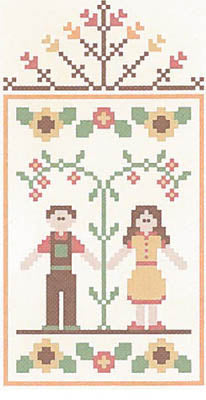Autumn Couple - Fall Festival 4 - Country Cottage Needleworks