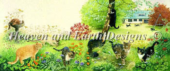 All The Cats In The Garden - Heaven and Earth Designs