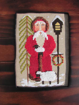 Santa Tending the Sheep - By The Bay Needleart