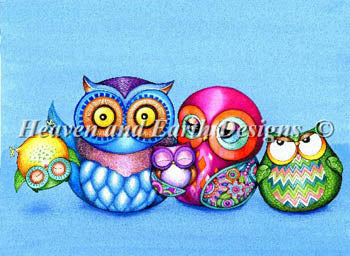 Crazy Wonderful Owl Family - Heaven and Earth Designs