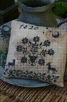 Blackwork Pinkeep - Stacy Nash Primitives