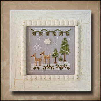 Frosty Forest 2, Snowy Deer - Country Cottage Needleworks