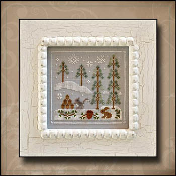 Frosty Forest 4, Snowy Friends - Country Cottage Needleworks