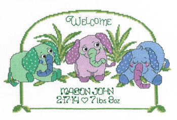 Baby Elephant Birth Announcement - Imaginating