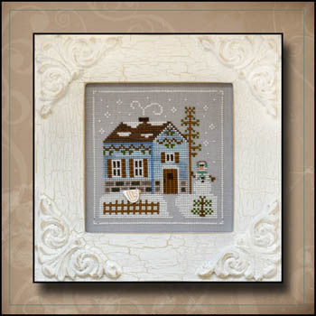 Frosty Forest 7, Snowgirl's Cottage - Country Cottage Needleworks