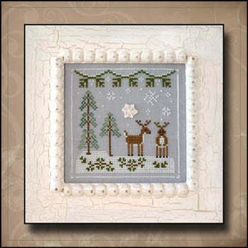 Frosty Forest 8, Snowy Reindeer - Country Cottage Needleworks