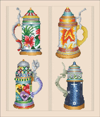 Beer Stein Seasons - Vickery Collection