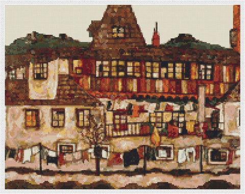 A House With Drying Laundry - Art of Stitch, The