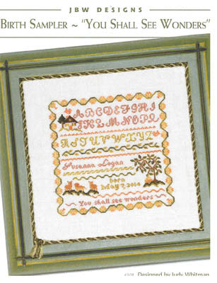 "Birth Sampler-""You Shall See Wonders"" - JBW Designs"