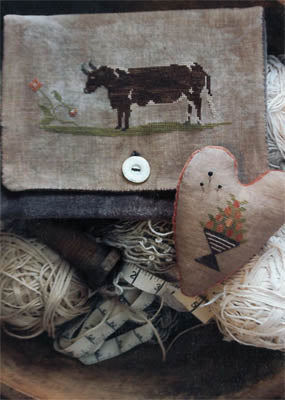 Brown Cow Sampler Bag & Pinkeep - Stacy Nash Primitives