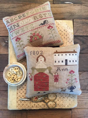 Ann's Sampler Pinkeeps - Stacy Nash Primitives