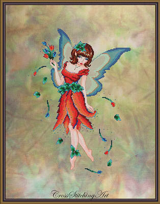 Anneke, The Tulip Fairy - Cross Stitching Art