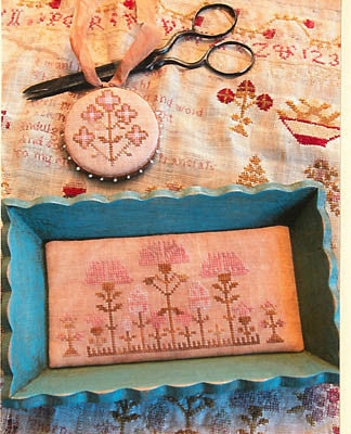 Snippets Of Mary Barres Sampler Small Sewing Tray & Pin Disk - Stacy Nash Primitives