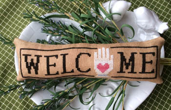 Wee Welcome, September Heart in Hand - Needle Bling Designs