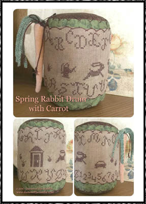 Spring Rabbit Drum - Dames of the Needle