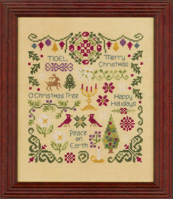 Antique Christmas Sampler - Elizabeth's Designs