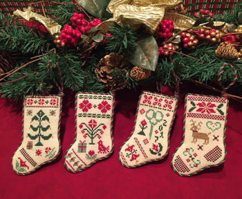 Christmas Stocking Ornaments - Scissor Tail Designs