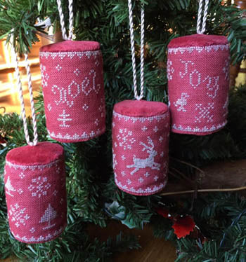 Mini Drums Christmas Ornaments - Dames of the Needle