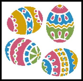 4 Easter Eggs - Artecy Cross Stitch