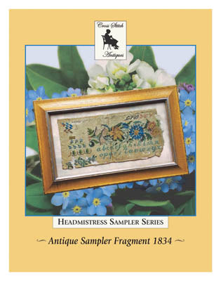 Antique Sampler Fragment 1834 - Cross Stitch Antiques
