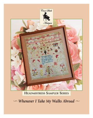 Whenever I Take My Walks Abroad - Cross Stitch Antiques