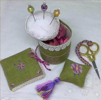 Cherry Blossom Pincushion Sewing Kit - MTV Designs