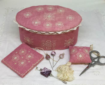 Ca'Rosada, Pink Sewing Box & Lace From Venice - MTV Designs