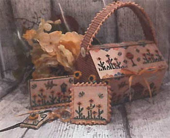 Flowers Cottage Sewing Basket - Mani Di Donna