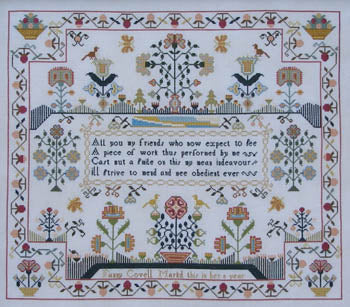 Fanny Covell c 1790 - Queenstown Sampler Designs