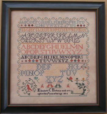 Elizabeth Bolton 1834 - Queenstown Sampler Designs