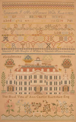 Elizabeth JM Mears 1833 - Queenstown Sampler Designs