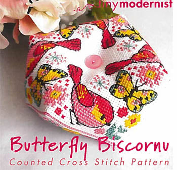 Butterfly Biscornu - Tiny Modernist Inc
