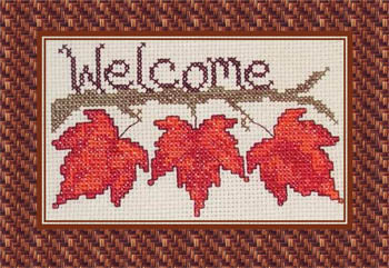 Fall Leaf Welcome - Cross-Point Designs