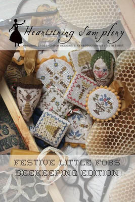 Festive Little Fobs 4, Beekeeping Edition - Heartstring Samplery