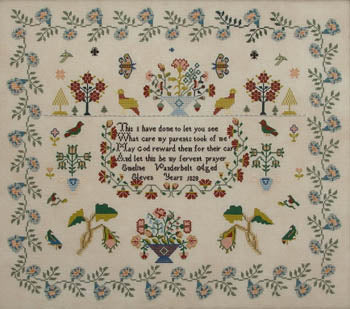 Emeline Vanderbelt 1828 - Queenstown Sampler Designs
