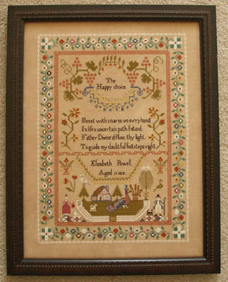Elizabeth Powell 1819 - Queenstown Sampler Designs