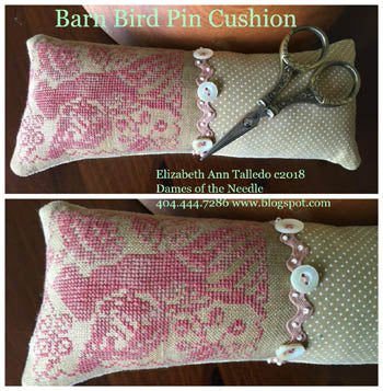 Barn Bird Pin Cushion - Dames of the Needle